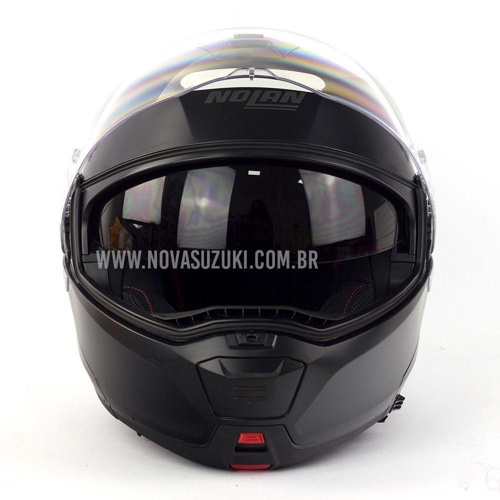 Capacete Nolan N100-5 Classic Preto Fosco (10) Articulado/Escamoteável  - Nova Suzuki Motos e Acessórios