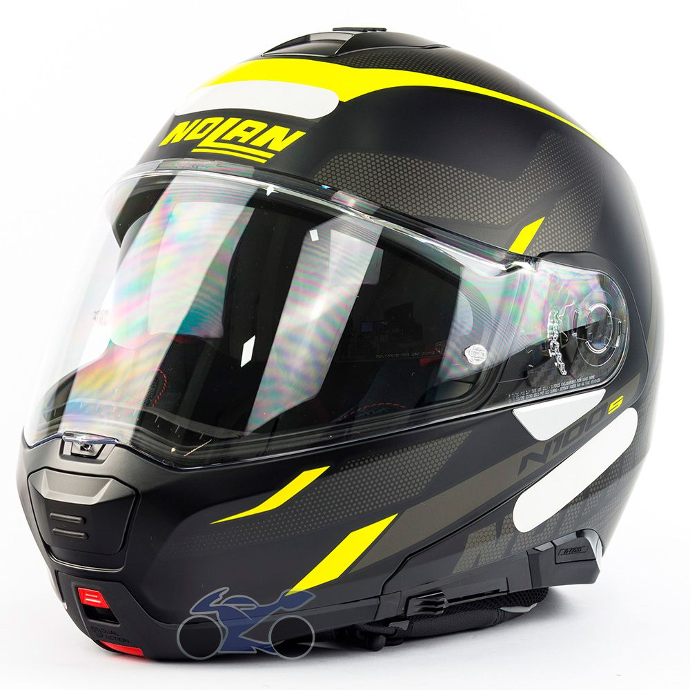 Capacete Nolan N100-5 Lumiere Amarelo Fosco (37) - Articulado C/ Viseira Solar - Ganhe Touca Balaclava  - Nova Suzuki Motos e Acessórios