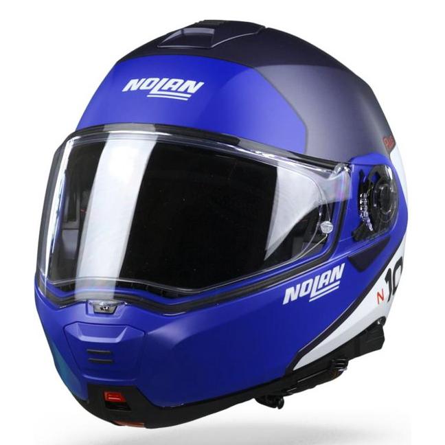 Capacete Nolan N100-5 Plus Distinctive Imperial Blue 29 Escamoteável - Ganhe Touca Balaclava  - Nova Suzuki Motos e Acessórios