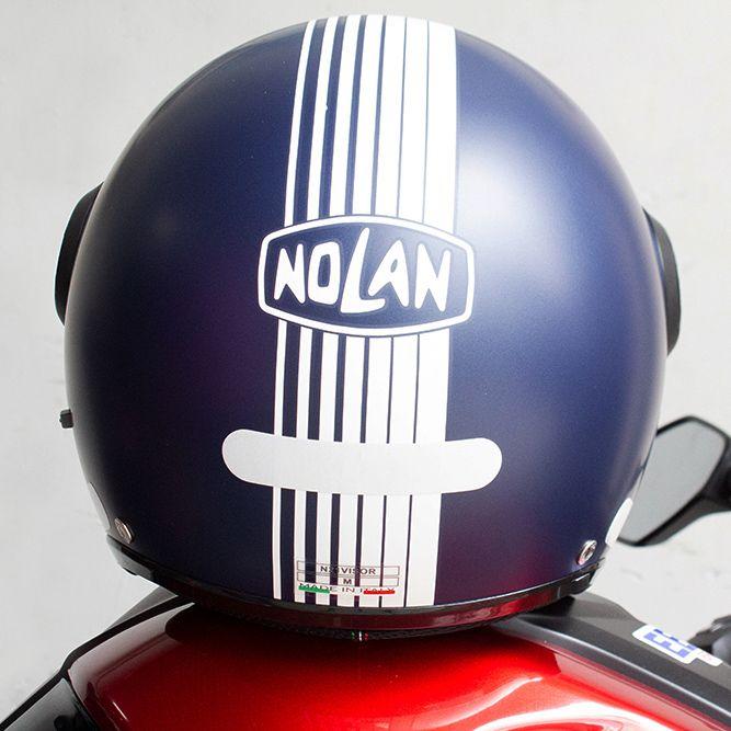 Capacete Nolan N21 Joi De Vivre Azul Fosco (53) - Aberto C/ Viseira Solar Interna (AGV Blade)  - Nova Suzuki Motos e Acessórios