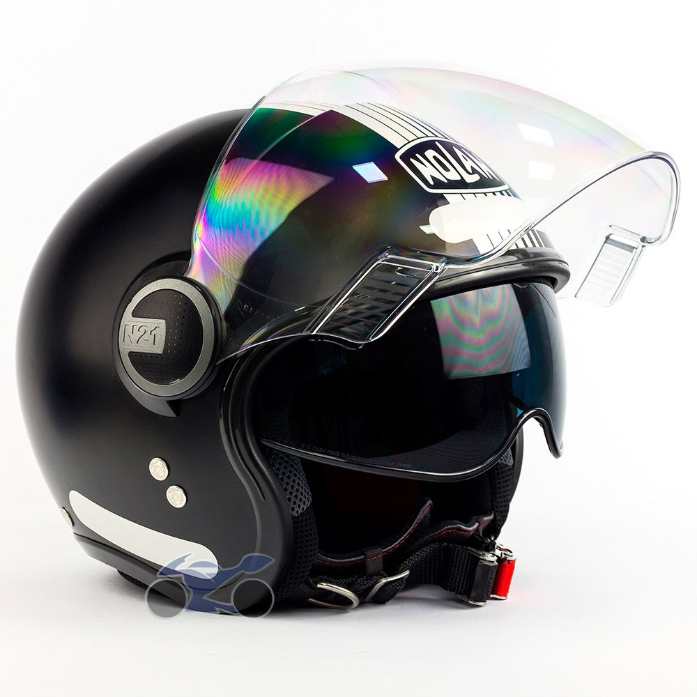 Capacete Nolan N21 Joie de Vivre Preto Fosco - Aberto C/ Viseira Solar Interna (AGV Blade) - MegaOferta!  - Nova Suzuki Motos e Acessórios