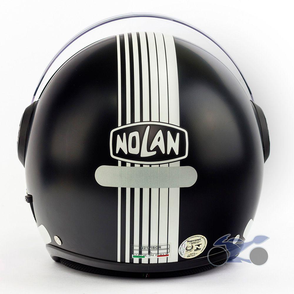 Capacete Nolan N21 Joie de Vivre Preto Fosco - Aberto C/ Viseira Solar Interna (AGV Blade)  - Nova Suzuki Motos e Acessórios