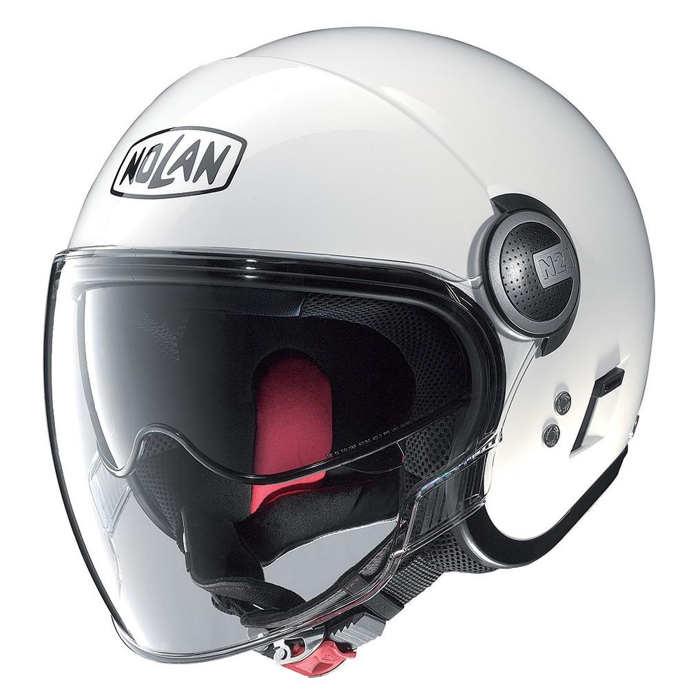 Capacete Nolan N21 Visor Classic White (05) Aberto C/ Viseira Solar Interna   - Nova Suzuki Motos e Acessórios