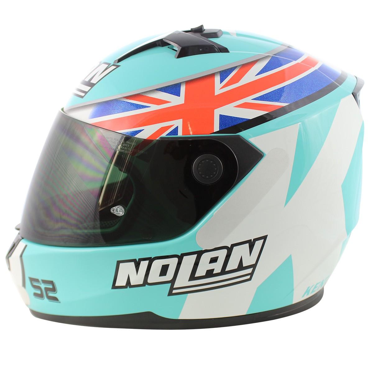 Capacete Nolan N64 Gemini Réplica D.Kent Aquamarine NOVO! - Ganhe Balaclava Exclusiva!  - Nova Suzuki Motos e Acessórios