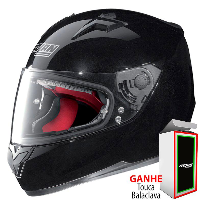 Capacete Nolan N64 Metal Black - Ganhe Balaclava Exclusiva!  - Nova Suzuki Motos e Acessórios