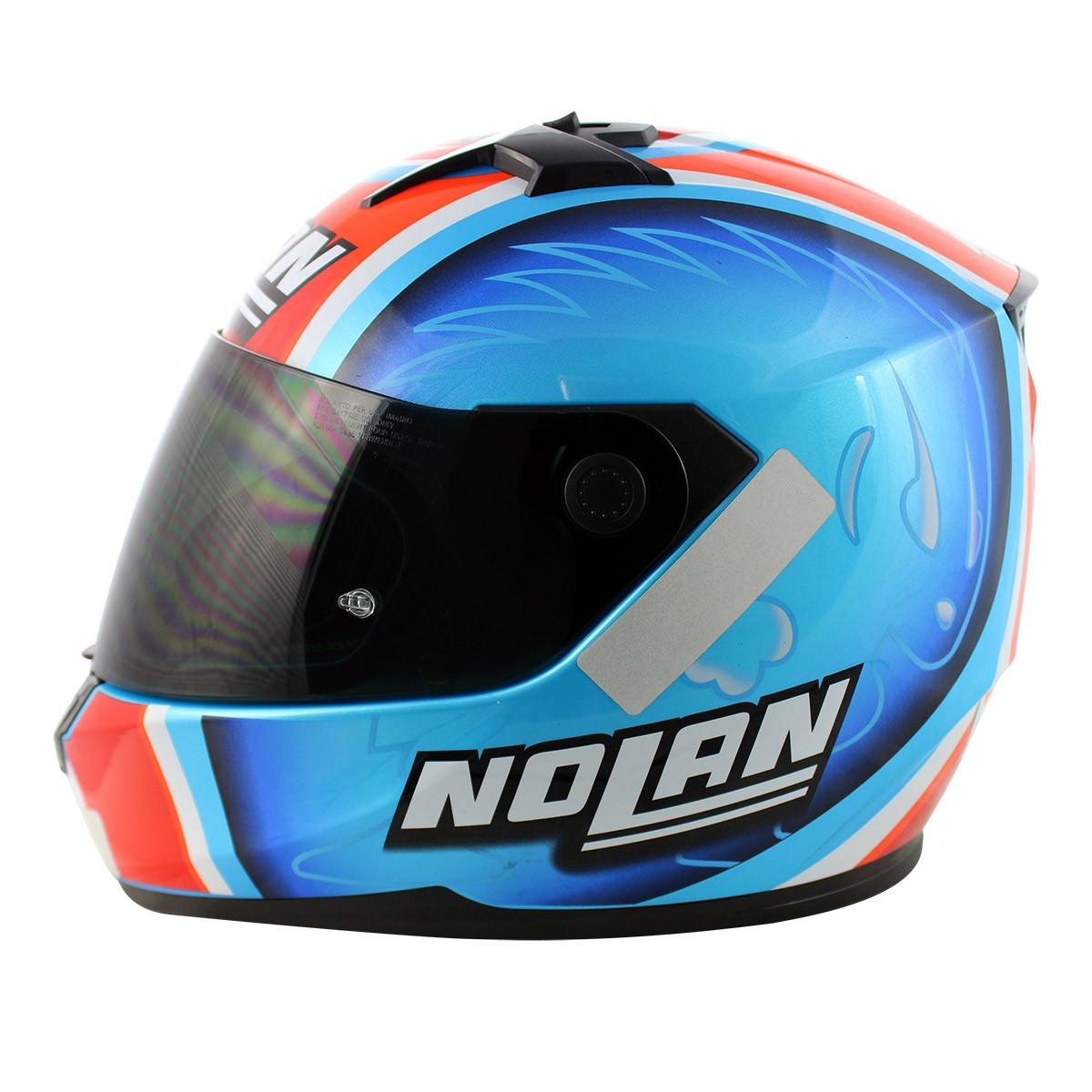 Capacete Nolan N64 Réplica Melandri Pearl Blue - Ganhe Touca Balaclava (Agv k-3)  - Nova Suzuki Motos e Acessórios