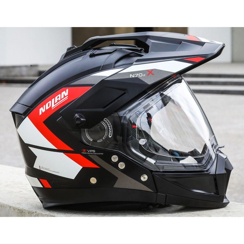 Capacete Nolan N70-2 X Grandes Alpes Matte Black/Red - Big Trail / Off Road  - Nova Suzuki Motos e Acessórios