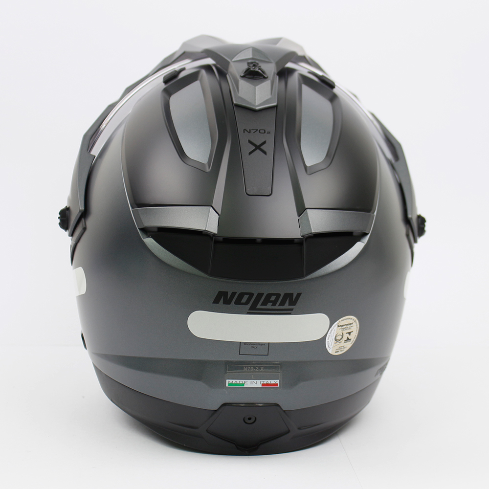 Capacete Nolan N70-2X Classic Cinza Vulcan (2) - Big Trail / Off Road - Remove queixo  - Nova Suzuki Motos e Acessórios