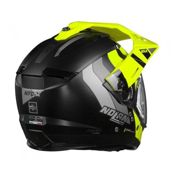 Capacete Nolan N70-2X Decurio Cinza/Amarelo (30) - Big Trail / Off Road - Remove queixo  - Nova Suzuki Motos e Acessórios