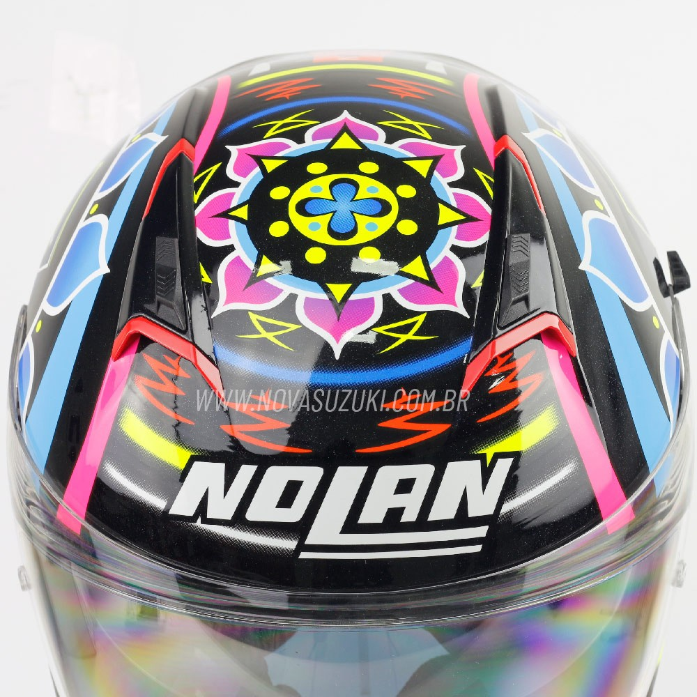 Capacete Nolan N87 Chaz Davies 2 (Réplica Oficial Piloto) C/ Viseira Solar - Ganhe Touca Balaclava (AGV K1 / K3 SV)  - Nova Suzuki Motos e Acessórios