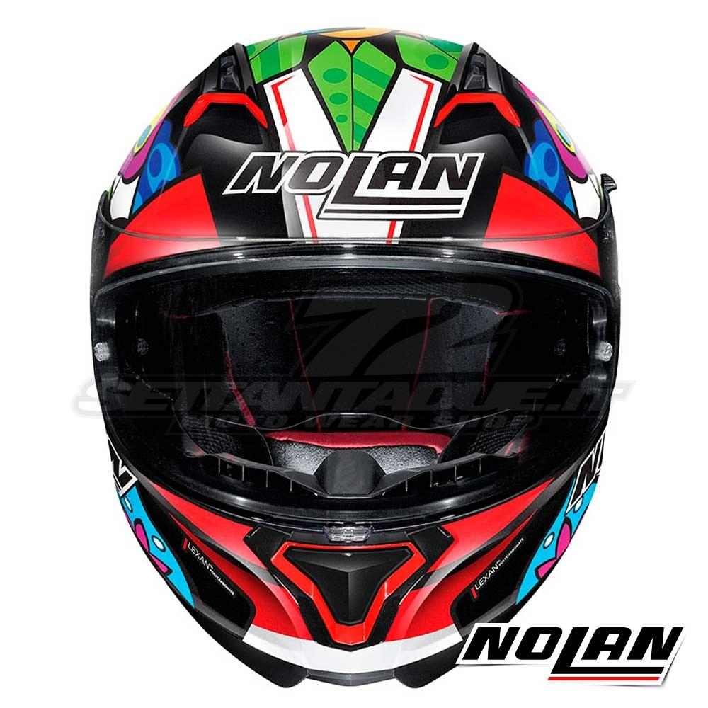 Capacete Nolan N87 Chaz Davies 3 (Réplica Oficial Piloto) 108 C/ Viseira Solar - Ganhe Touca Balaclava (AGV K1 / K3 SV)  - Nova Suzuki Motos e Acessórios
