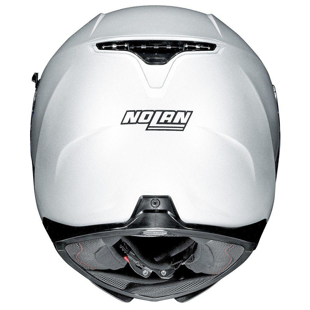 Capacete Nolan N87 Classic Metal White C/ Viseira Solar - Ganhe Touca Balaclava (AGV K1 / K3 SV)  - Nova Suzuki Motos e Acessórios