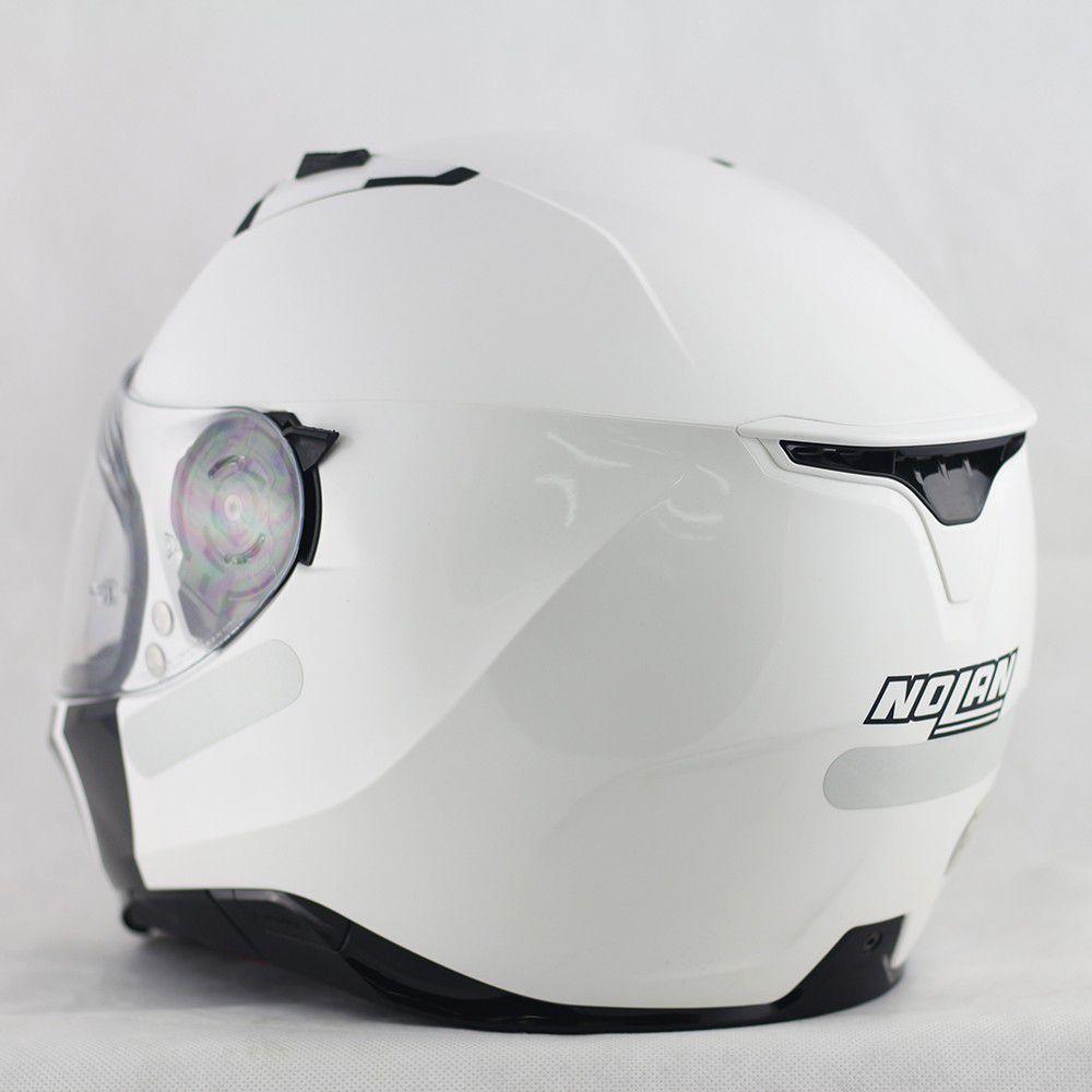 Capacete Nolan N87 Classic Metal White C/ Viseira Solar - Ganhe Balaclava Exclusiva!  - Nova Suzuki Motos e Acessórios