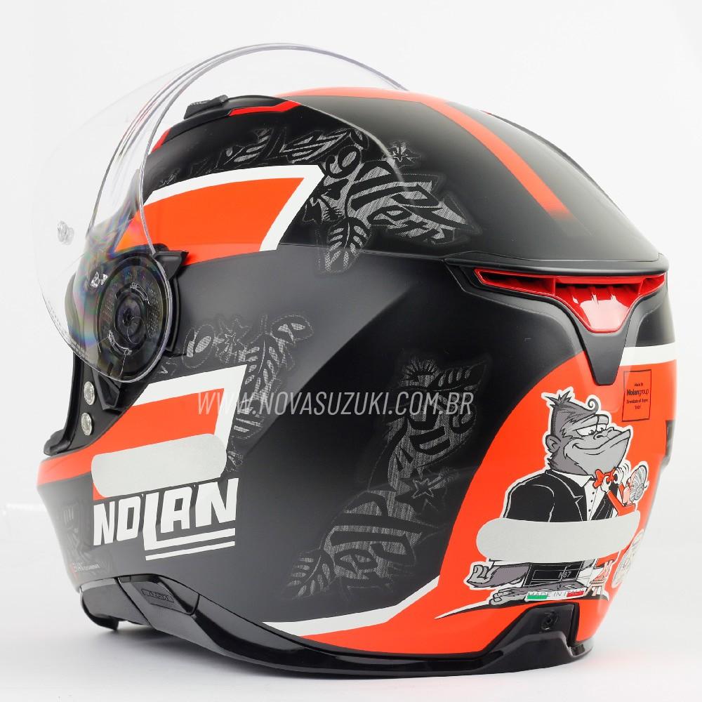 Capacete Nolan N87 Danilo Petrucci 2 (Réplica Oficial Piloto) C/ Viseira Solar - Ganhe Touca Balaclava (AGV K1 / K3 SV)  - Nova Suzuki Motos e Acessórios