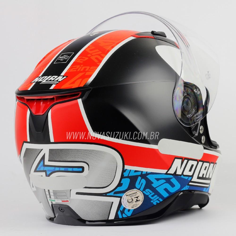 Capacete Nolan N87 Gemini Alex Rins (Réplica Oficial Piloto Suzuki) C/ Viseira Solar - Ganhe Touca Balaclava (AGV K1 / K3 SV)  - Nova Suzuki Motos e Acessórios