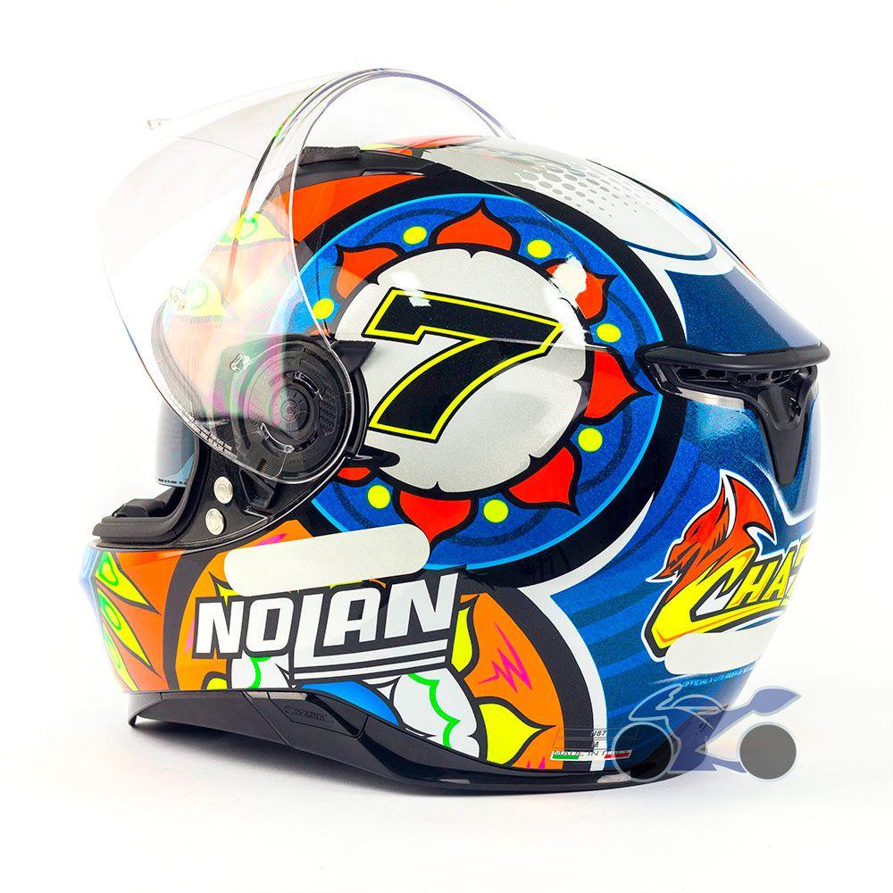 Capacete Nolan N87 Gemini Replica Davies C/ Viseira Solar (54) - Ganhe Touca Balaclava (AGV K1 / K3 SV)  - Nova Suzuki Motos e Acessórios