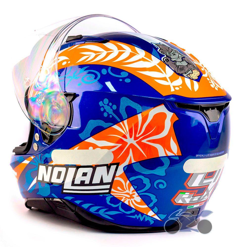 Capacete Nolan N87 Gemini Replica Petrucci C/ Viseira Solar (62) - Ganhe Touca Balaclava (AGV K1 / K3 SV)  - Nova Suzuki Motos e Acessórios
