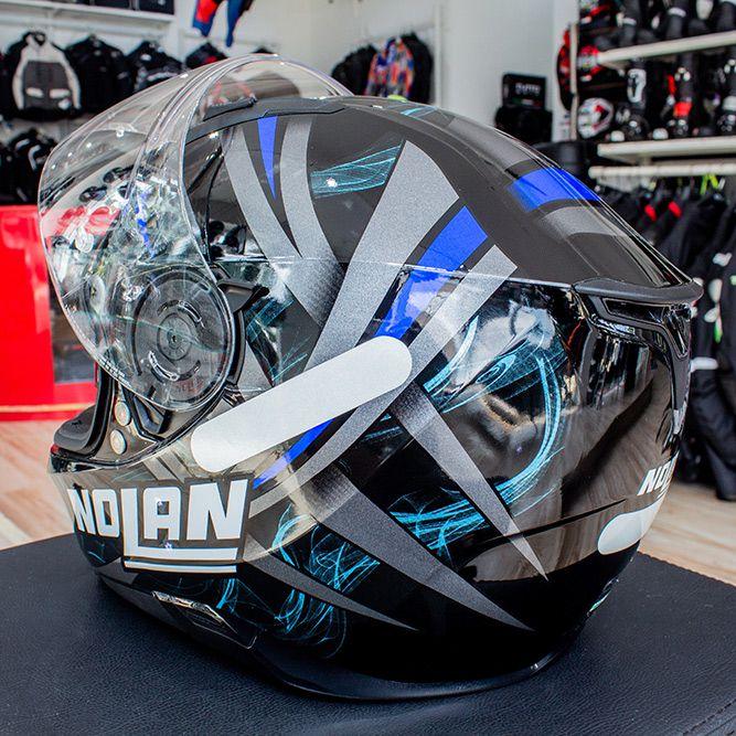Capacete Nolan N87 Ledlight Glossy Blue C/ Viseira Solar - Ganhe Balaclava Exclusiva! (AGV K1 / K3 SV)  - Nova Suzuki Motos e Acessórios