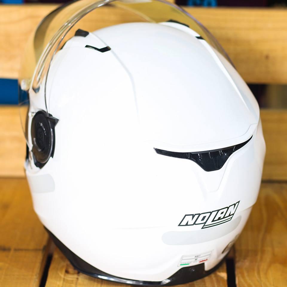 Capacete Nolan N87 Martz Metal White C/ Viseira Solar - Ganhe Touca Balaclava (AGV K1 / K3 SV)  - Nova Suzuki Motos e Acessórios