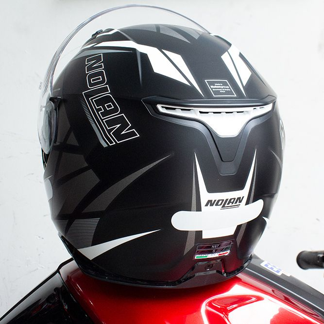 Capacete Nolan N87 Originality Flat Black Grey (68) C/ Viseira Solar - Ganhe Touca Balaclava (AGV K1 / K3 SV)  - Nova Suzuki Motos e Acessórios