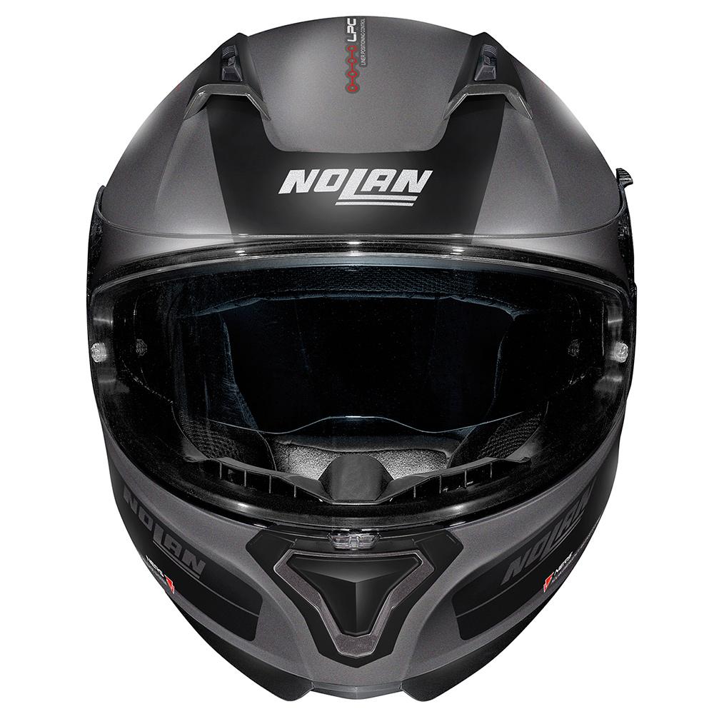 Capacete Nolan N87 Plus Distinctive Preto/Cinza Fosco (21) C/ Viseira Solar - Ganhe Touca Balaclava (AGV K1 / K3 SV)  - Nova Suzuki Motos e Acessórios