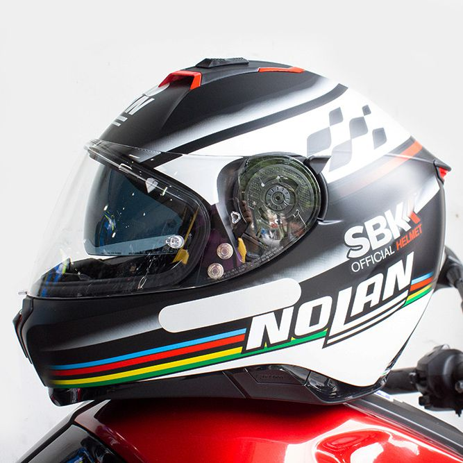 Capacete Nolan N87 Sbk (60) C/ Viseira Solar - Ganhe Touca Balaclava (AGV K1 / K3 SV)  - Nova Suzuki Motos e Acessórios