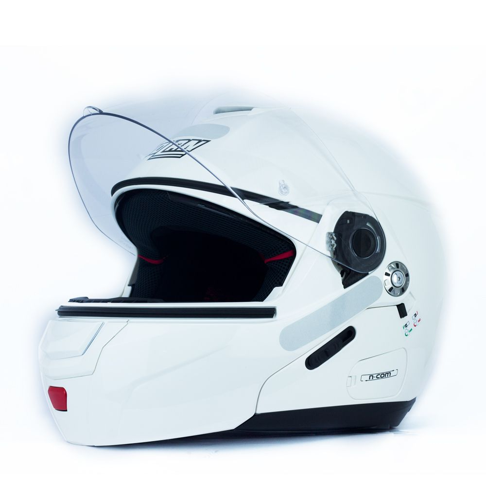 ... Capacete Nolan N90 Classic Branco Escamoteável C  Viseira Solar Interna  (GANHE BALACLAVA NOLAN) ... c4a671f25d