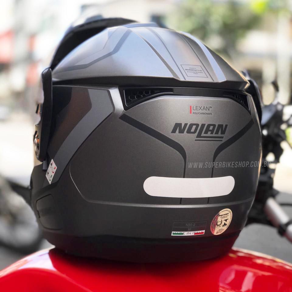 Capacete Nolan N90 Meridianus Preto/Cinza 30 Escamoteável C/ Viseira Solar Interna (GANHE BALACLAVA NOLAN)   - Nova Suzuki Motos e Acessórios