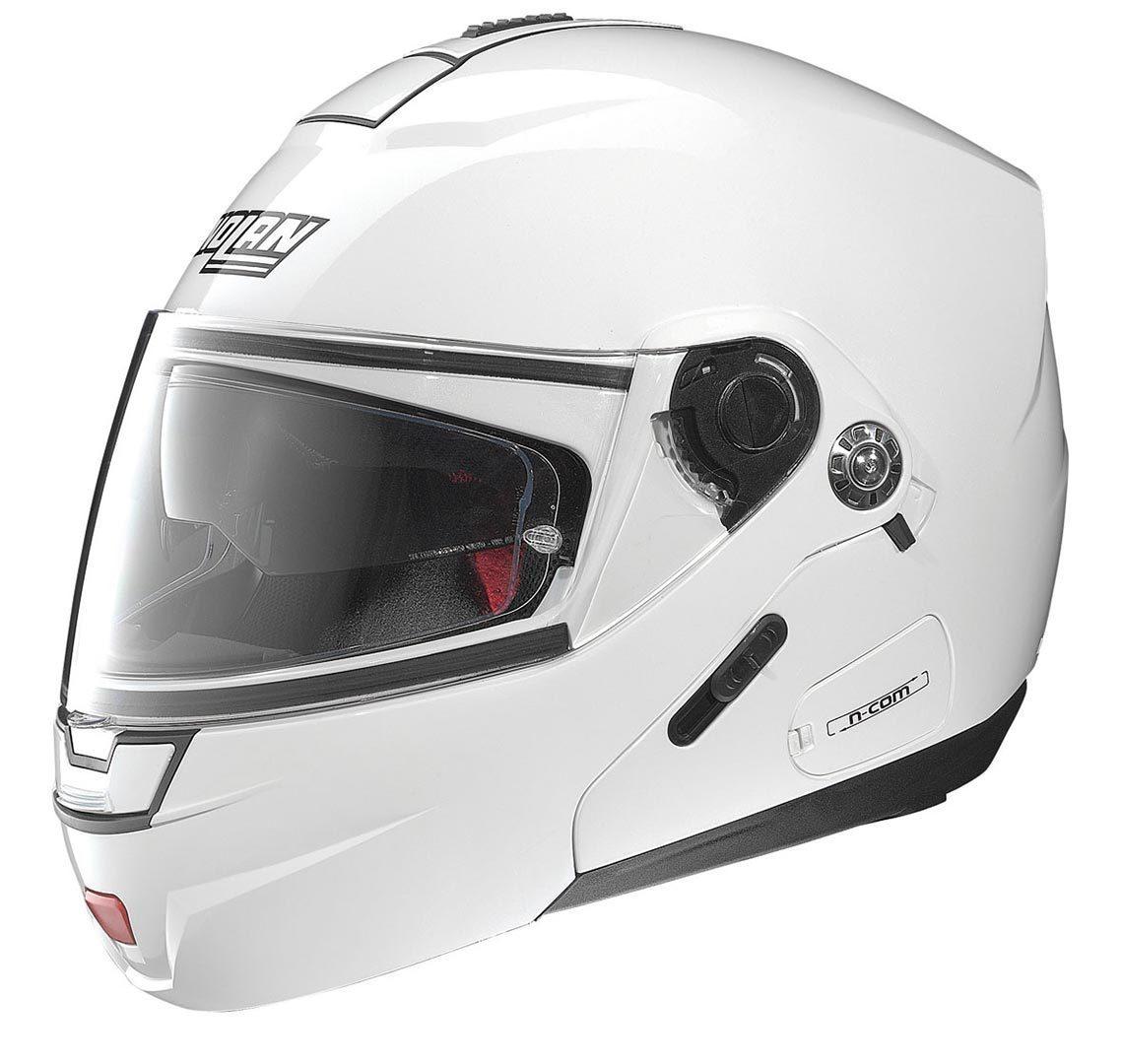 Capacete Nolan N91 Evo Classic Branco Escamoteável C/ Viseira Solar Interna - Ganhe Balaclava Exclusiva!  - Nova Suzuki Motos e Acessórios