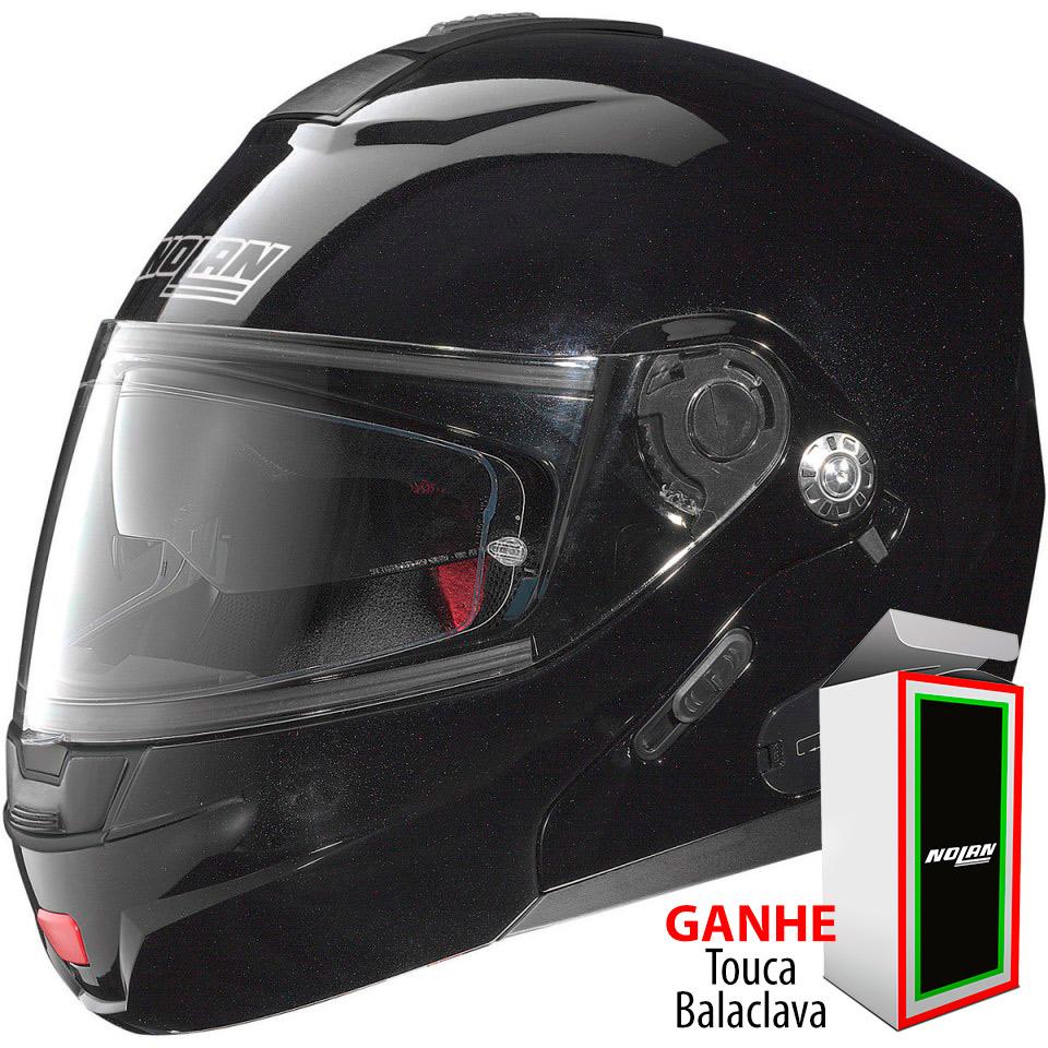 Capacete Nolan N91 Evo Special N-Com Metal Black Escamoteável C/ Viseira Solar Interna - Ganhe Balaclava Exclusiva!  - Nova Suzuki Motos e Acessórios