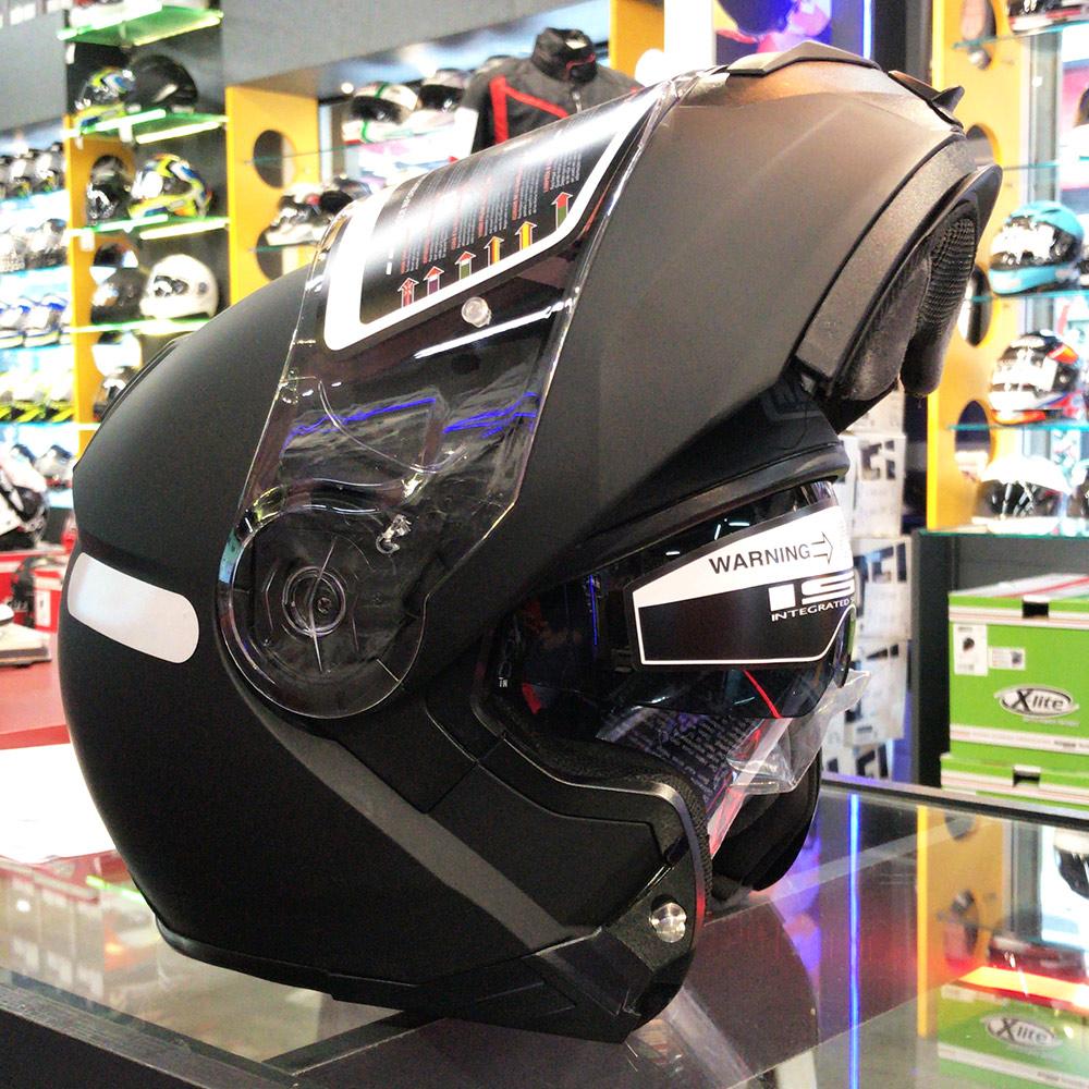 Capacete NZI Combi 2 Duo Preto Fosco Escamoteável Com Viseira Solar (Force)  - Nova Suzuki Motos e Acessórios