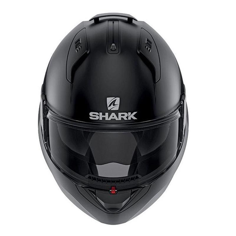 Capacete Shark Evo One ES Blank Matt BLK Escamoteável/Articulado  - Nova Suzuki Motos e Acessórios