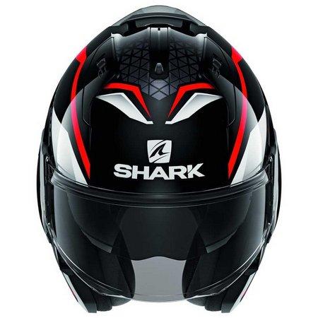 Capacete Shark Evo One ES YARI KRW Preto/Vermelho Escamoteável/Articulado  - Nova Suzuki Motos e Acessórios