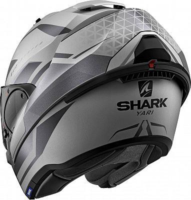 Capacete Shark Evo One ES YARI MAT SAK Cinza Claro Escamoteável/Articulado  - Nova Suzuki Motos e Acessórios