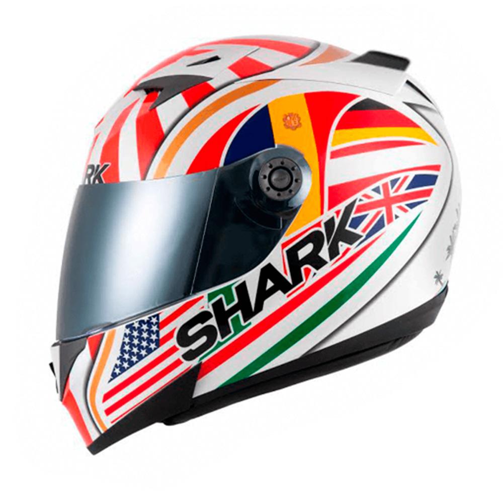 Capacete Shark S700 Special Edition - Johann Zarco Réplica com Aerofólio  - Nova Suzuki Motos e Acessórios