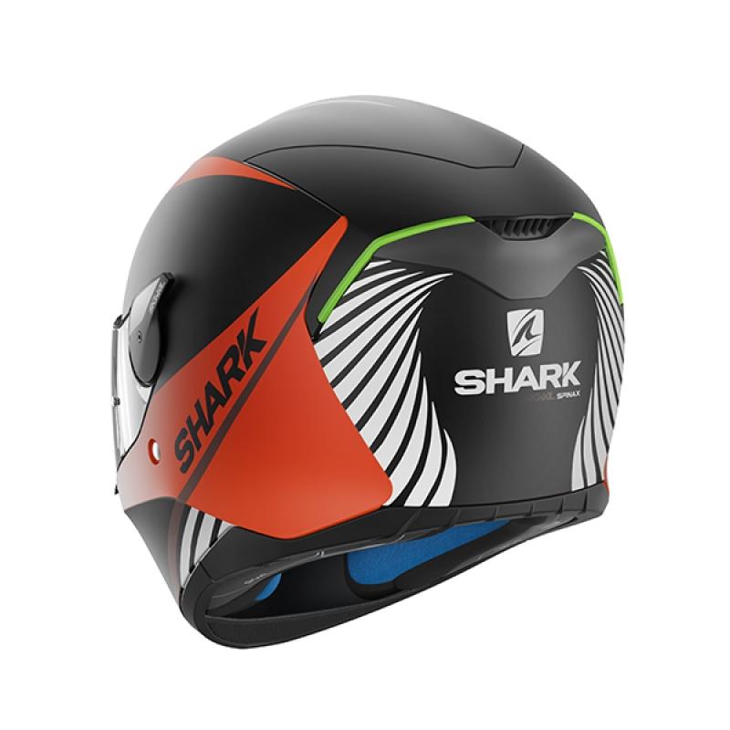 Capacete Shark Skwal Spinax Matt KOW c/ Led  - Nova Suzuki Motos e Acessórios