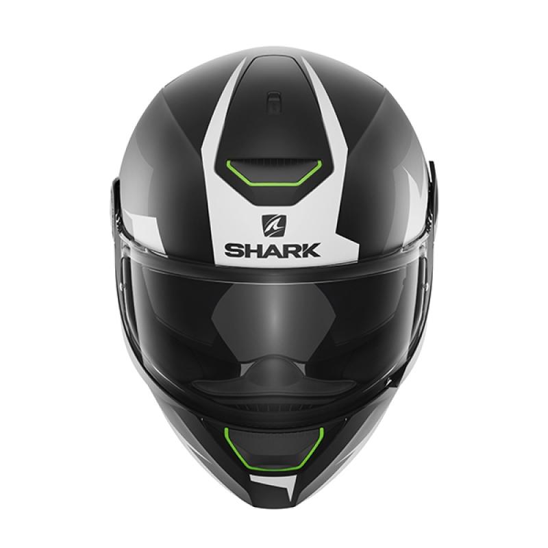 Capacete Shark Skwal Sticking Matt KWA c/ Led  - Nova Suzuki Motos e Acessórios