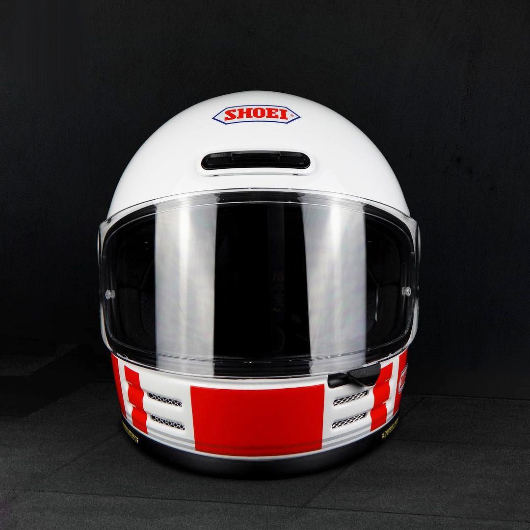 Capacete Shoei Glamster Ressurrection TC-10 Branco/Vermelho/Azul Brinde: Pinlock Anti-Embaçante  - Nova Suzuki Motos e Acessórios