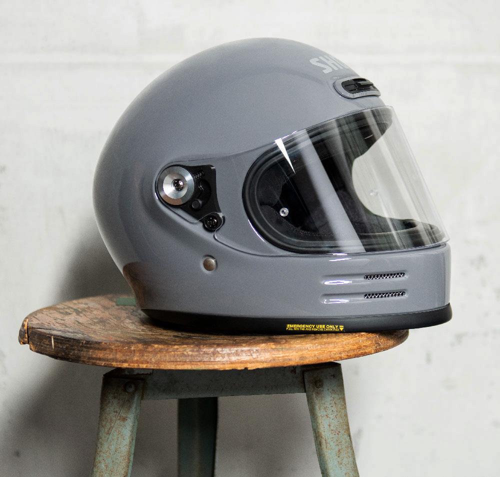 Capacete Shoei Glamster Retrô Cinza Bassalt Brinde: Pinlock Anti-Embaçante  - Nova Suzuki Motos e Acessórios