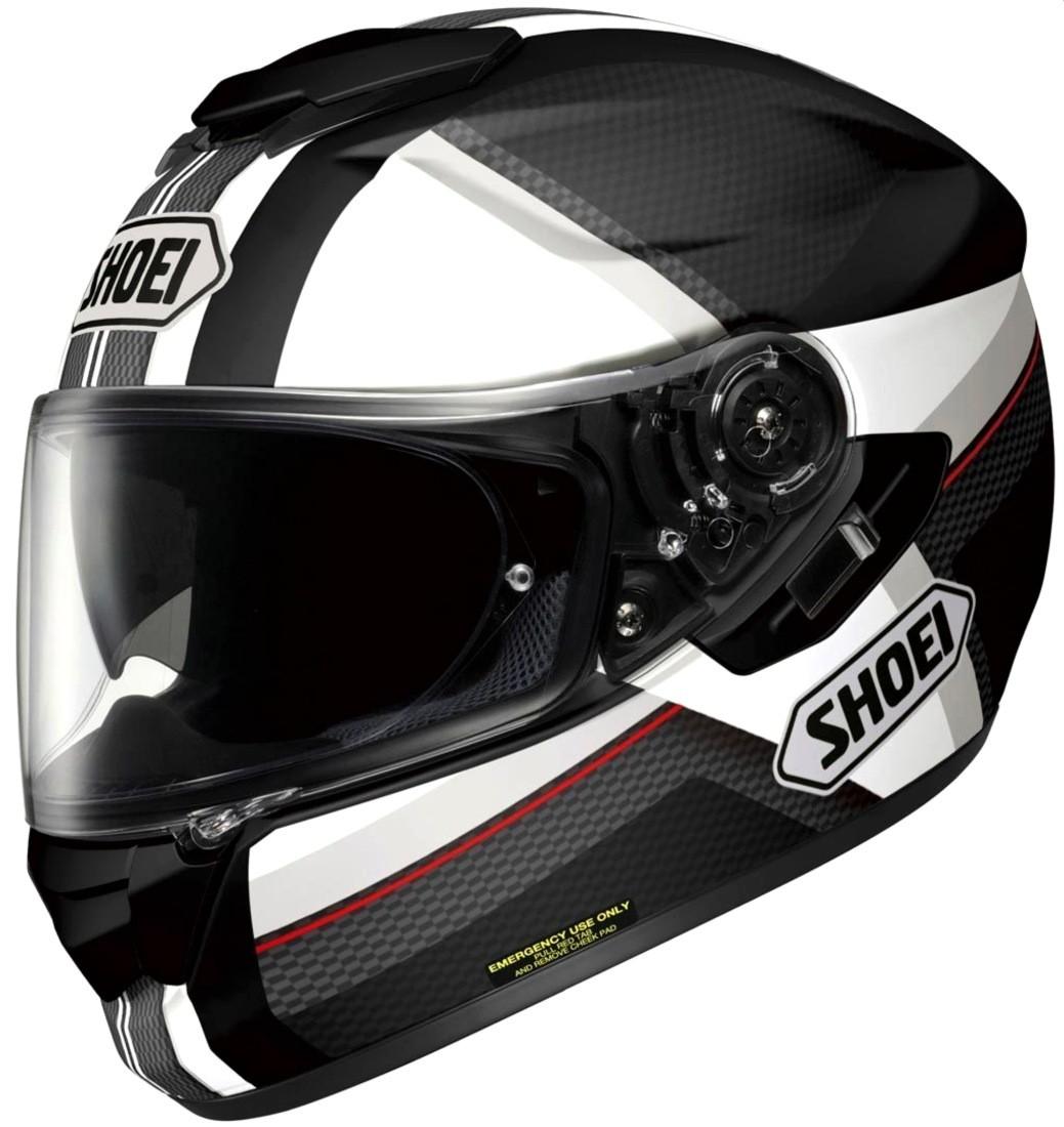 Capacete Shoei GT-Air Exposure Black/White c/ Pinlock Anti-Embaçante + c/ Viseira Solar - Semana do Motociclista  - Nova Suzuki Motos e Acessórios