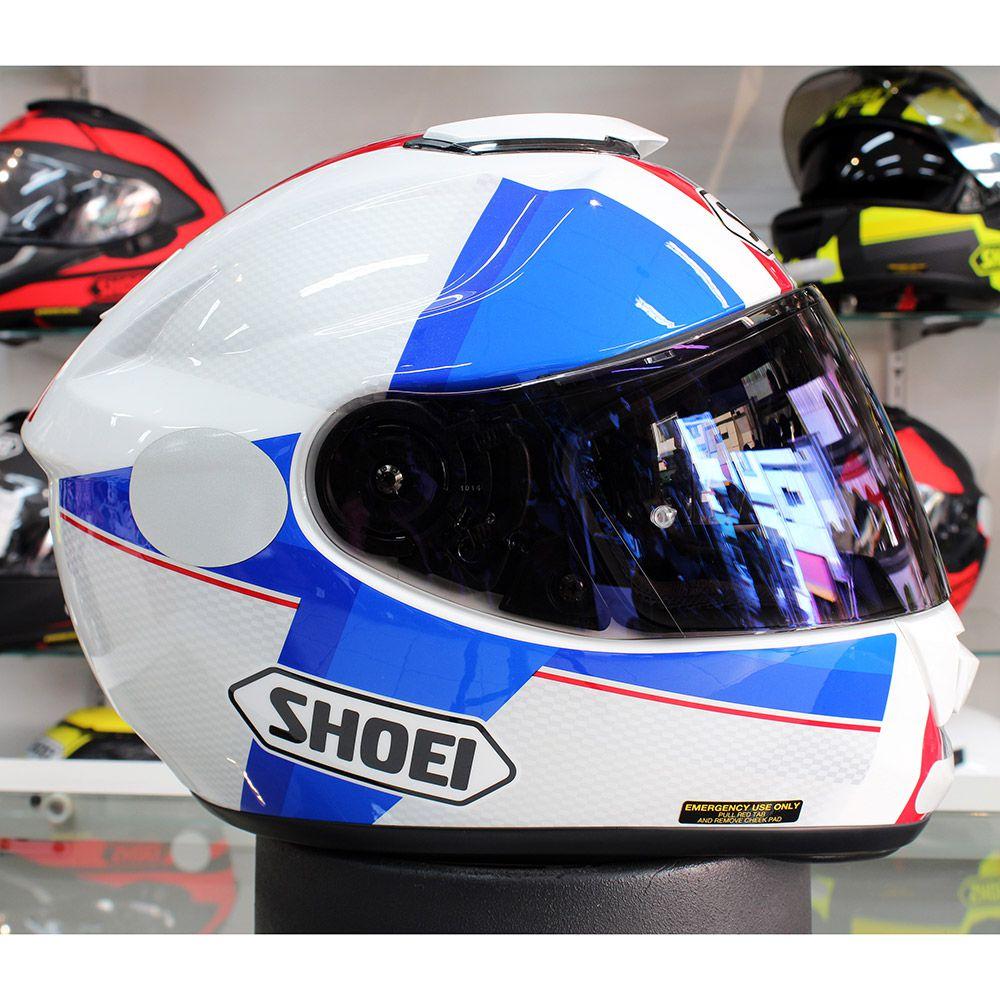 Capacete Shoei GT-Air Exposure Red/Blue c/ Pinlock Anti-Embaçante   - Nova Suzuki Motos e Acessórios