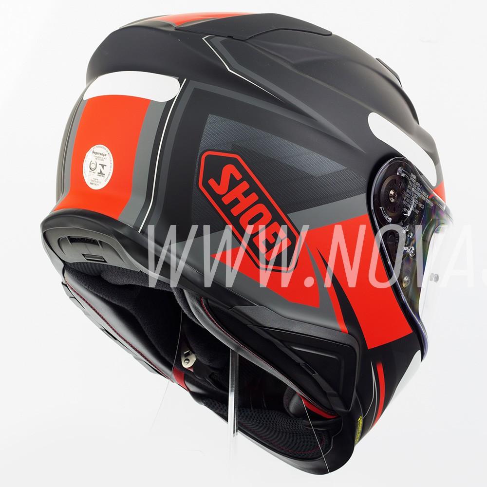 Capacete Shoei GT-Air II Affair TC-1 Preto/Vermelho C/ Viseira Solar e Pinlock Anti-Embaçante - GT-Air 2   - Nova Suzuki Motos e Acessórios