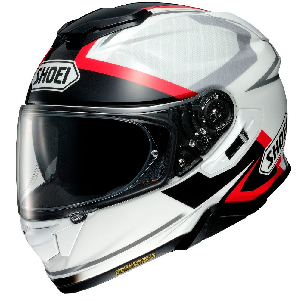 Capacete Shoei GT-Air II Affair TC-6 Branco/Vermelho/Preto C/ Viseira Solar e Pinlock Anti-Embaçante - GT-Air 2   - Nova Suzuki Motos e Acessórios