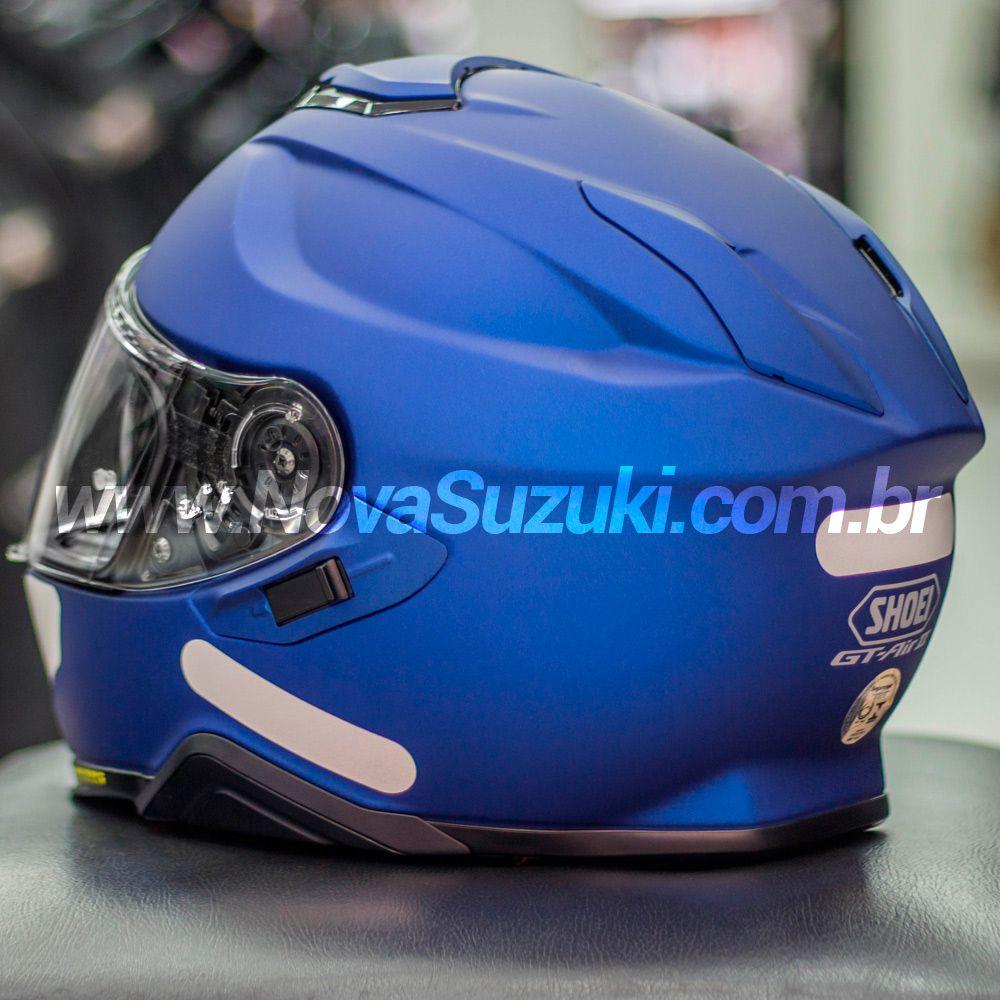 Capacete Shoei GT-Air II Azul Fosco C/ Viseira Solar e Pinlock Anti-Embaçante - GT-Air 2   - Nova Suzuki Motos e Acessórios