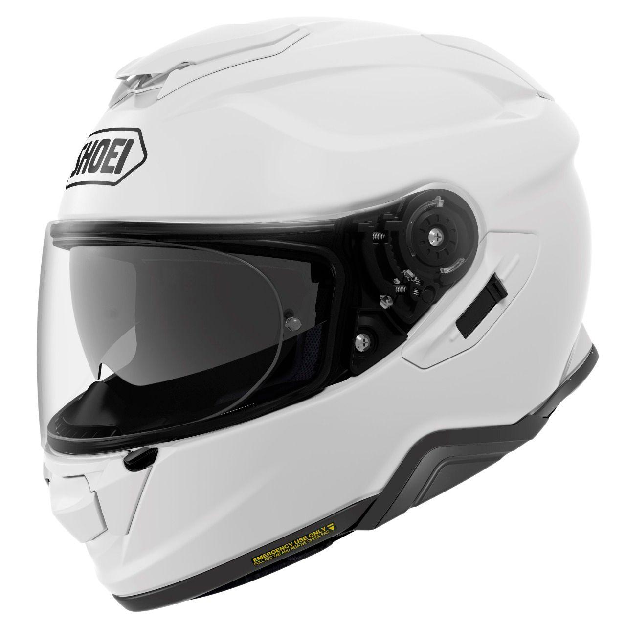 Capacete Shoei GT-Air II Branco C/ Viseira Solar e Pinlock Anti-Embaçante - GT-Air 2   - Nova Suzuki Motos e Acessórios
