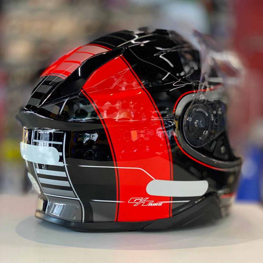 Capacete Shoei GT-Air II Crossbar TC-1 Preto/Vermelho C/ Viseira Solar e Pinlock Anti-Embaçante - GT-Air 2  - Nova Suzuki Motos e Acessórios