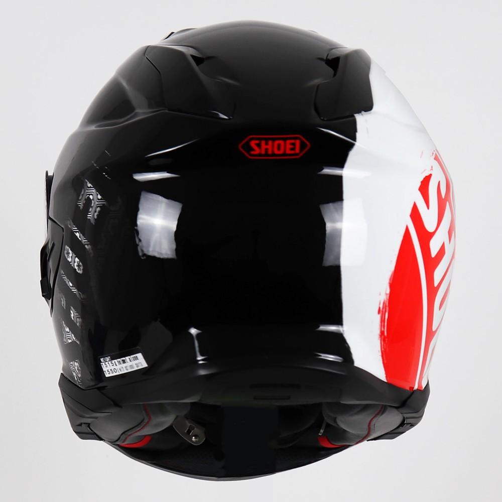 Capacete Shoei GT Air II Emblem TC-1 Preto/Branco/Vermelho C/ Viseira Solar e Pinlock Anti-Embaçante - GT Air 2  - Nova Suzuki Motos e Acessórios