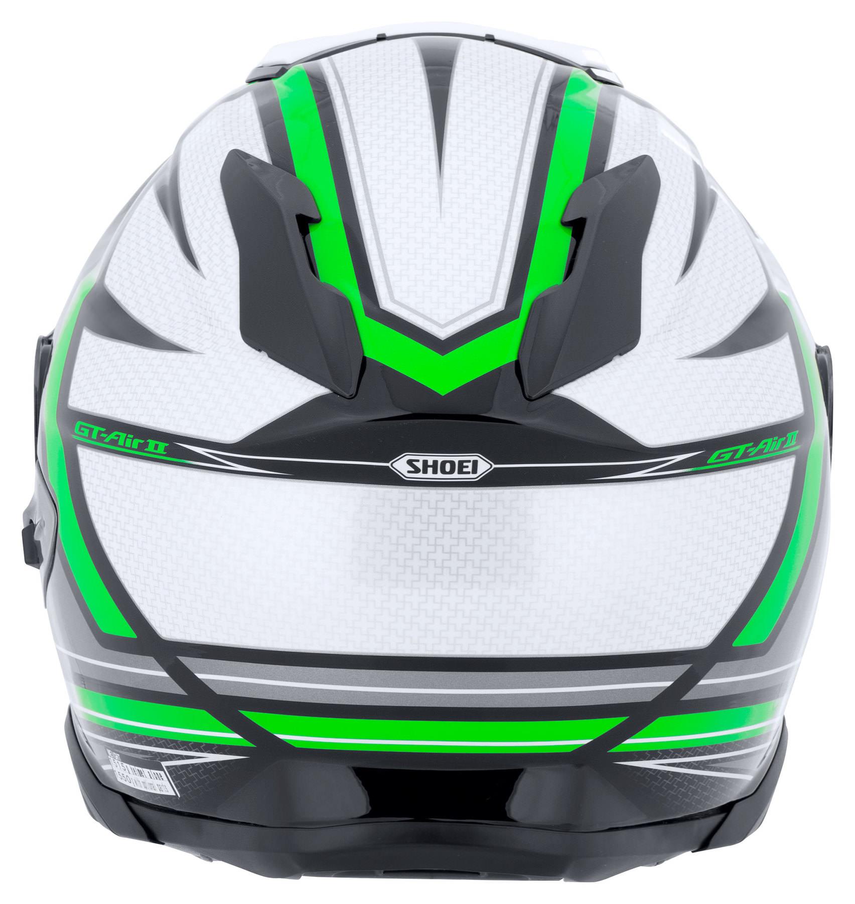 Capacete Shoei GT-Air II Haste TC-4 Cinza/Verde C/ Viseira Solar e Pinlock Anti-Embaçante - GT-Air 2   - Nova Suzuki Motos e Acessórios
