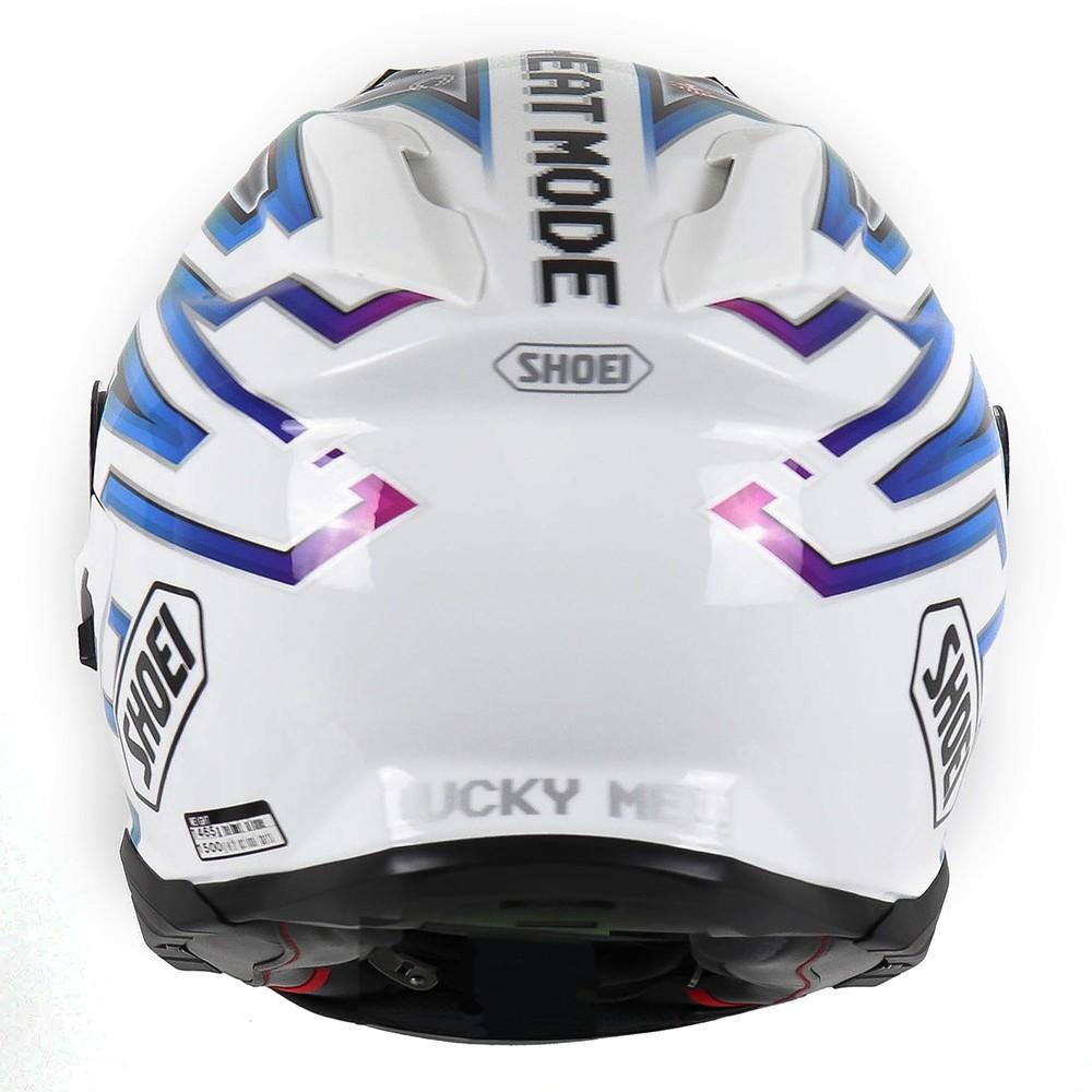 Capacete Shoei GT-Air II Lucky Charms TC-10 Branco/Preto/Cores (Game) C/ Viseira Solar e Pinlock Anti-Embaçante - GT-Air 2   - Nova Suzuki Motos e Acessórios