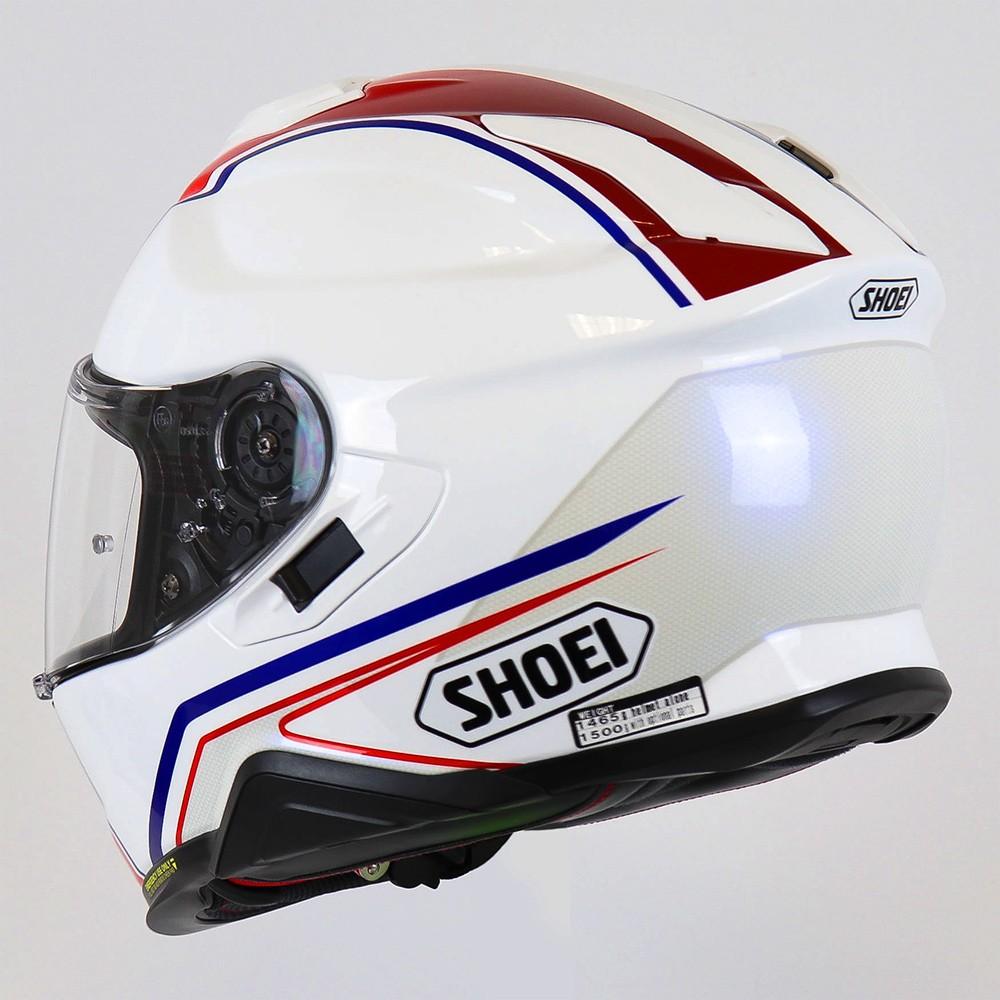 Capacete Shoei GT-Air II Panorama TC-10 Branco/Azul e Vermelho Com Pinlock Anti-Embaçante - GT-Air 2   - Nova Suzuki Motos e Acessórios